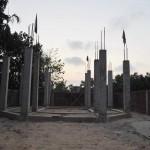 035建設中のストゥーパ(仏舎利塔)